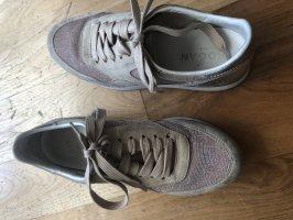 HOGAN Schuhe, altrose mit grau / silber, Größe 38,