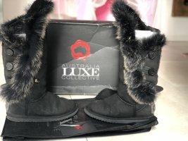 Australia Luxe Collective Futrzane buty czarny