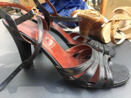 Hohe Sandaletten Bally Gr. 38 schwarz