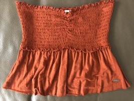 Hollister Camisa de un solo hombro naranja oscuro