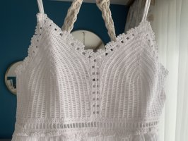 Hollister Crochet Top white