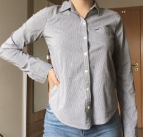 Hollister - gestreiftes Hemd / Bluse mit Logo