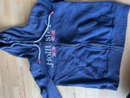 Hollister Giacca con cappuccio blu scuro-rosso