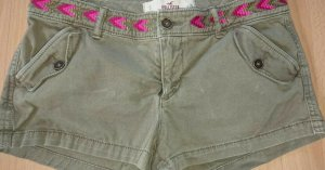 Hollister Hotpants, Grün, W 26, Gr S, Bestickt, Grün Jeans