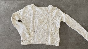 Hollister Wełniany sweter w kolorze białej wełny