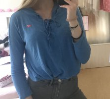 Hollister Maglione con cappuccio blu fiordaliso