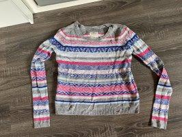 Hollister Pullover Oberteil Muster bunt strickpullover