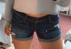 hollister shorts denim jeans shorts sommer ripped jeans damen