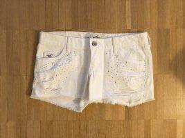 Hollister Shorts Pants Strass Steinchen Weiß Neu W23 Gr00