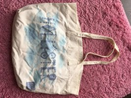 Hollister Burlap Bag white-blue