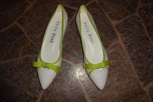 Holly Wood Ballerinas mit Spitze weiß-grün Casual-Look
