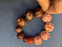 Handmade Bransoletki z perłami Wielokolorowy