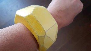 Zara Accesoires Jonc jaune fluo