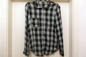 Only Houthakkershemd zwart-grijs-groen