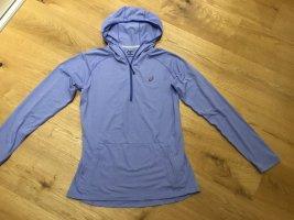 Asics Bluza z kapturem niebieski neonowy-stalowy niebieski Poliakryl