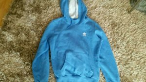 Hoodie von Adidas in Blau Gr.36 S