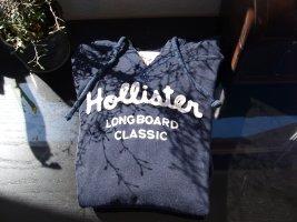 Hollister Jersey con capucha azul oscuro Algodón