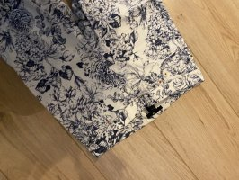 H&M Drainpipe Trousers white-dark blue