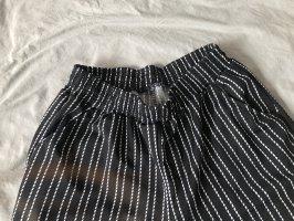 Falda pantalón de pernera ancha negro-blanco