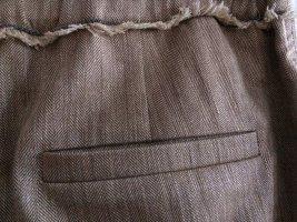 Brunello Cucinelli Pantalone di lino marrone chiaro