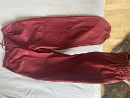 Zara Leather Trousers red