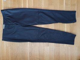 Burberry Pantalon en cuir noir