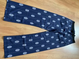 HM Broek met wijd uitlopende pijpen donkerblauw