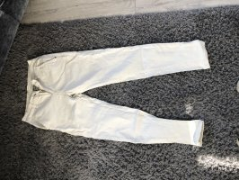Workowate jeansy w kolorze białej wełny