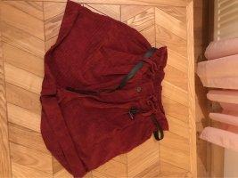 FB Sister Pantalon en velours côtelé rouge carmin-bordeau