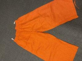 Hose Leinen orange Transparente 40-44