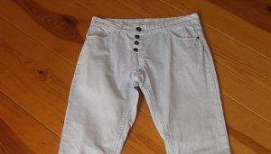 UpFashion Pantalon cinq poches bleu pâle coton
