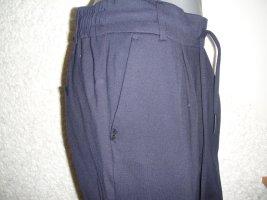 Be only Pantalone a vita alta blu scuro Cotone