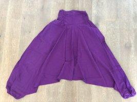 Hose Pumphose Baumwolle blauviolett Fronttasche Reißverschluß Einheitsgröße