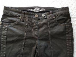 Cambio Jeans Spodnie rurki ciemnobrązowy