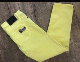Gucci Jeansy biodrówki żółty
