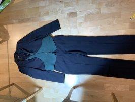 Escada Sport Tailleur-pantalon bleu foncé-bleu cadet