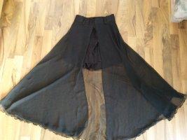 Falda pantalón negro tejido mezclado