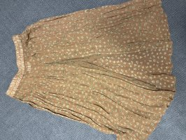 Hopsack Falda pantalón marrón claro-gris verdoso
