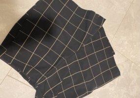 Zara Falda pantalón negro-amarillo oscuro