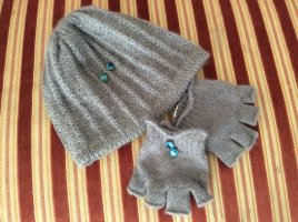 Diesel Industry Knitted Hat silver-colored mixture fibre