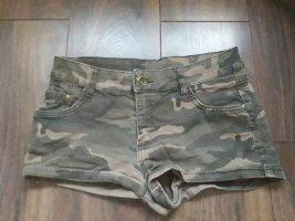 Clockhouse Hot pants grijs-bruin-groen-grijs
