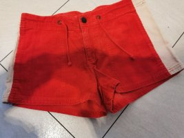 H&M Hot Pants white-bright red