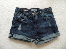 Bershka Hot pants donkerblauw