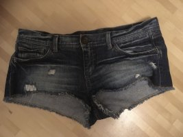 Benetton Jeans Hot Pants dark blue cotton