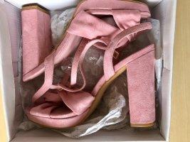 Truffle Collection Sandalias de tacón con plataforma color rosa dorado-rosa