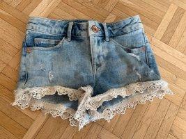 HOT - Sexy Jeans HotPants/Shorts - Größe 32 XS - LightBlue - Spitze