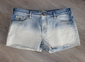 Maison Scotch Hot pants lichtblauw-wit