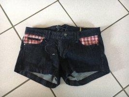 Almsach Short en jean bleu foncé