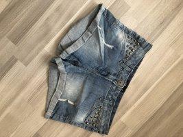 Hotpant Jeans mit Nieten