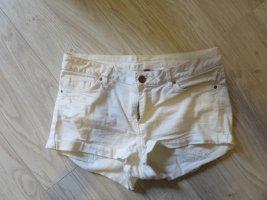 H&M Divided Hot pants bianco Cotone